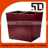 China Supplier Best Handmade Custom Fake Leather Waste Bin Price