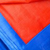 HDPE+LDPE tarps laminated fabrics sun-proof blue/orange any size available