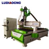 High speed automatic  Linear tool change ATC CNC wood router machine for wood furniture door cabinet making
