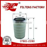 17801-2280/17801-2070/17801-3410/17801-3500/17902-1020/17801-2560 Air filter for Toyota Hino Truck