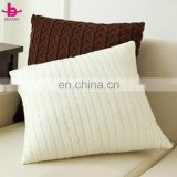 Hotsale Factory Direct Custom Made Knitted Plain Cotton Throw Pillow Cover