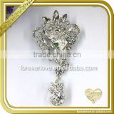 Rhinestone Button Brooch Embellishment Jewelry Crystal Bridal Hair Pins Wedding Brooches FB-039edding Brooches FB-039