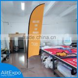 Dye sublimation printing Double Side customed logo Outdoor Feather Flag and flag pole
