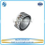 Combined needle roller and angular contact ball bearing