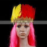 Wholesale Halloween Christmas Carnival Party Supplies Feather Headpiece Indian Headdress