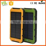 Hot sale hardstyle 10000mah charger solar for cellulars