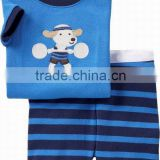 Cute Cartoon Children Pajamas Short sleeve Cotton Pajamas