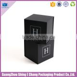 Luxury black square shape paperboard printing paper gift box packaging with magnetism