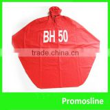 Hot Sale Popular pvc hooded rain cape poncho for adults