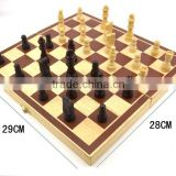 High quality wooden intelligence toy foldable chess board game pieces