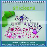 heart diamond shape acrylic 3d sticker custom
