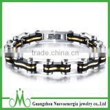 Mens Bike Chain Bracelet Stainless Steel Silver Black Gold High Polished Bicycle Chain Bracelet