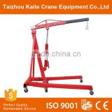 Warehouse Lifting and Moving Aluminium Small Gantry Mini Mobile Crane for Sale