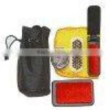 shoe care set with black pounch