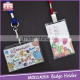Hot products customeized pvc id card badge holder for trade show