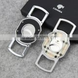QUALITY BLACK CIGAR CUTTER DOUBLE TWIN BLADE