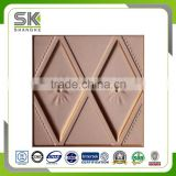 interior decoration 3D carved leather wall panel colored leather foam sandwich wall panel