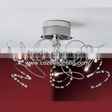 Modern Chandeliers Lustre Design Pendant Light Ceiling Lamp Chandelier Crystal Suspended Lighting CZ9039/6