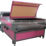 quality assurance auto feeding large format laser CO2 cutting machine on fabric leather cloth