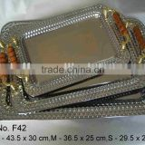 stainless steel solid and durable high quality rectangle tray/food plate/fruit dish decoration