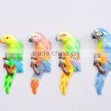 Colorful 5 inch Plastic Pearl Powder Flat Parrot Animal Fridge Magnet, Animal Homes craft, Decorative Magnets
