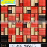 Hot sale in spanish market wallpaper glass mosaic kitchen tile