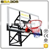 Wall mounted used basketball backboard