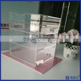 2016 Hot Sale!! Acrylic Makeup Organizer Box Case / Clear Makeup Cube With 4 Storage Drawers