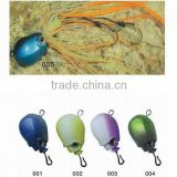 Lead head with double hook fishing jig lures