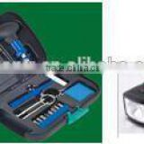 14pcs Hot products outdoor Hardware Tool Kit led flashlight tool set for promotional HW04004