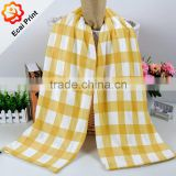 newest design personalized printed heat transfer printed softtextile plaid blanket scarf
