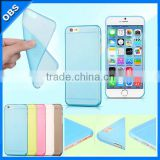 colorful PP 0.6mm thickness ultrathin transparent mobile phone case for iphone6(OBS-PG-SL60002)