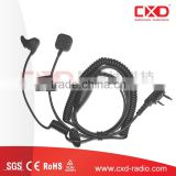 Portable Radio Conduction Microphone Finger PTT/ In Ear Earbone Vibration& Bone Conduction Earphone