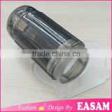 New arrival transparent black clear nail stamper with 2.8cm stamper head