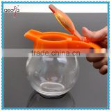 ball shape clear body glass small oil and vinegar bottle