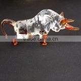 newest design of brown crystal bull gift for office decoration