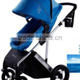 2015 Baby pram 3 in 1 with big air wheels,3 position seat with 5 point safety