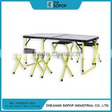 The cheapest and the most popular camping aluminum folding table porchair chairs and chairs set