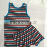 100% cotton cheap sleeveless blank tank top for boys kids bulk clothing.low pir moq huoyuan