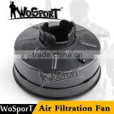 WoSporT air filtration fan accessories for airsoft tactical military V4 Avengers Cosplay Toxic M04 black gas mask w/ Fan
