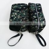 Durable army green canvas men toilet kit bag manufacturer