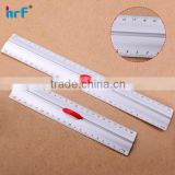 "8''/12"" Aluminum Ruler with red Finger Grip,aluminum level ruler with handle"