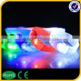 2015 factory price led flashing bracelet, remote controlled led bracelet, motion led lights bracelet