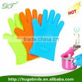 Heat Resistant Silicone Glove Cooking Baking BBQ Oven Gloves With Fingers Kitchen Pot Holder Silicone Oven