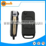 3 button 4 track blade modified folding flip remote key blank case shell with soft key fob for Mercedes Benz M ML S SL