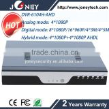 Free client software h.264 dvr, 4Ch 1080P HD-ahd h.264 network DVR for ahd camera