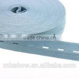Wholesale colored nylon elastic braid webbing belt for garment