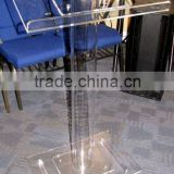 Clear organic glass church pulpit, acrylic glass pulpit for church