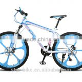 Made in china factory price with 26 Inch magnesium alloy rim steel frame bicycle mountain bike