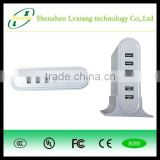 50W 2A 6 ports multi usb charger, usb charger with Smart IC and 1.5 meter US/UK/AU/EU power cord